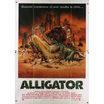 THE GREAT ALLIGATOR Italian Movie Poster - 55x70 in. - 1979 - Sergio Martino, Barbara Bach