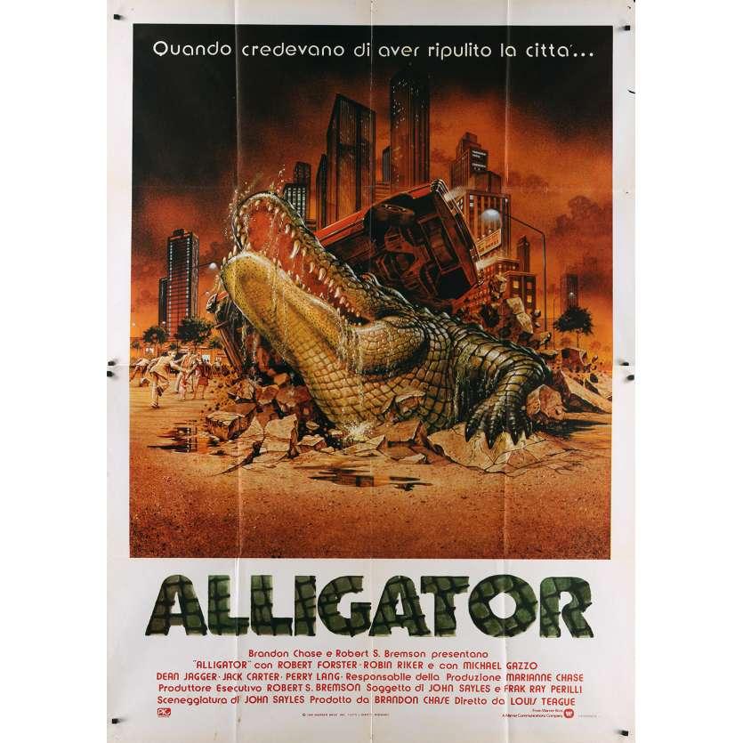 THE GREAT ALLIGATOR Italian Movie Poster - 55x70 in. - 1979 - Sergio Martino, Barbara Bach
