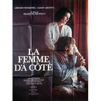 LA FEMME D'A COTE Affiche de film - 120x160 cm. - 1981 - Gérard Depardieu, François Truffaut