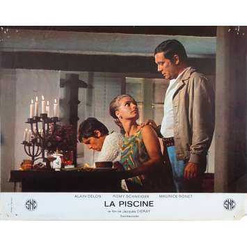 SWIMMING POOL French Lobby Card N01 - 9x12 in. - 1969 - Jacques Deray, Alain Delon, Romy Schneider
