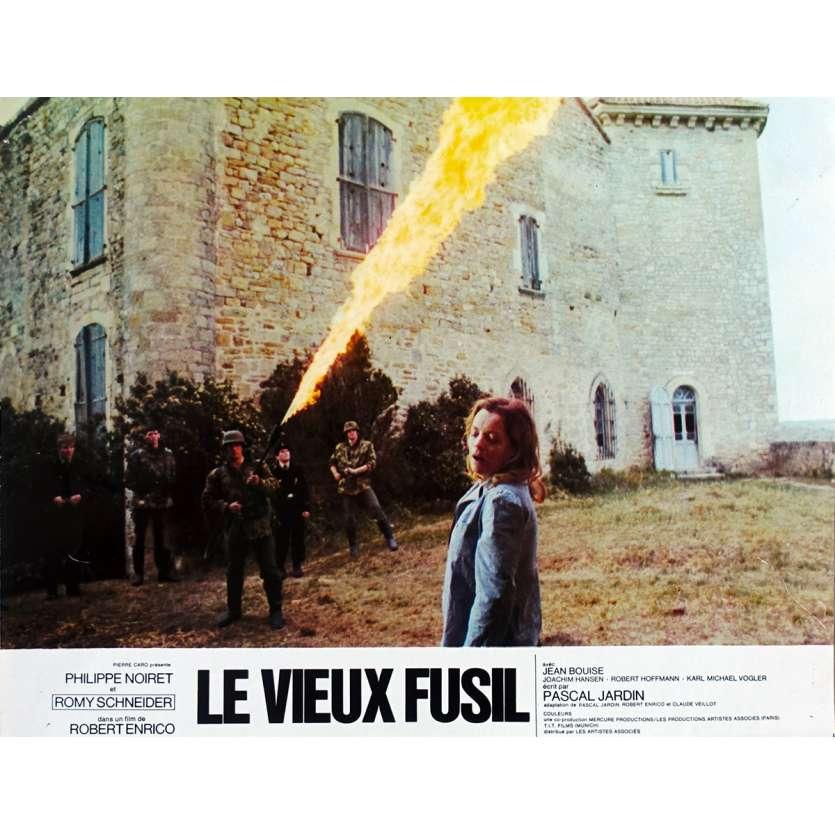 OLD GUN French Lobby Card N01 - 9x12 in. - 1976 - Robert Enrico, Romy Schneider