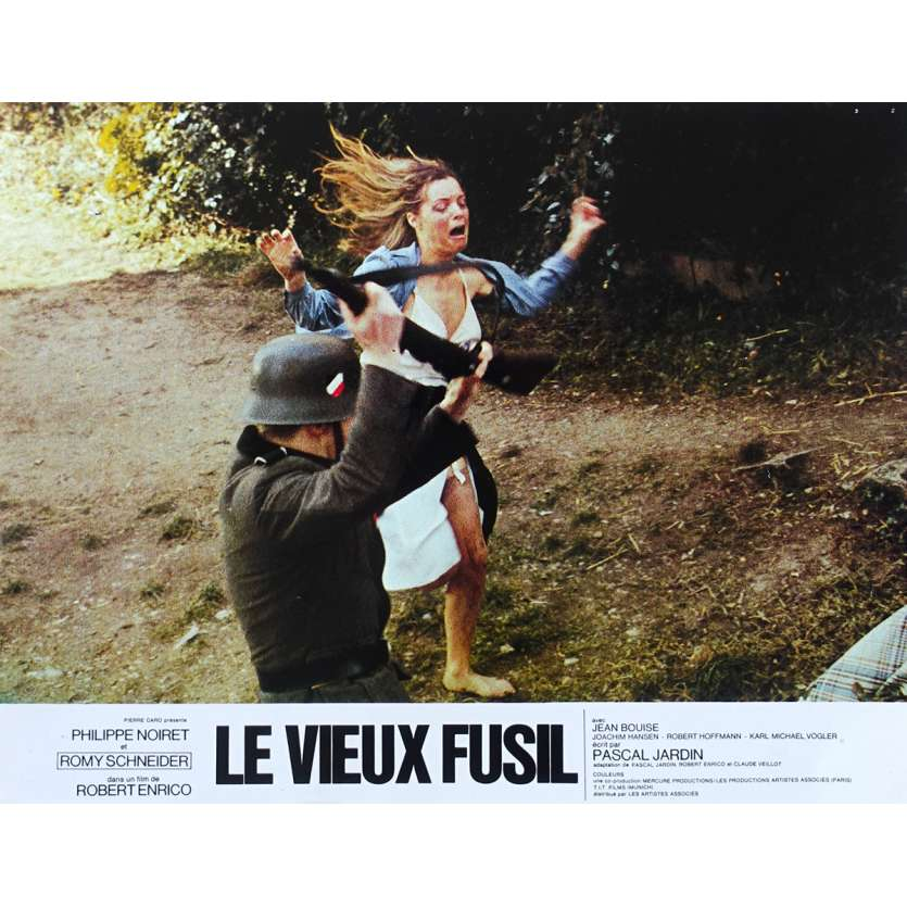 OLD GUN French Lobby Card N03 - 9x12 in. - 1976 - Robert Enrico, Romy Schneider