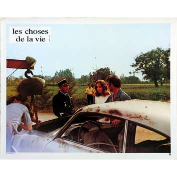 THE THINGS OF LIFE French Lobby Card N01 - 9x12 in. - 1970 - Claude Sautet, Romy Schneider