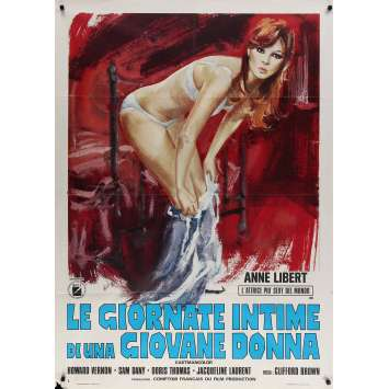 LE JOURNAL INTIME D'UNE NYMPHOMANE Affiche de film - 100x140 cm. - 1973 - Anne Libert, Jess Franco