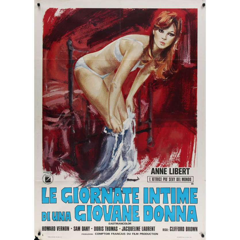 DIARY OF A NYMPHO Italian Movie Poster - 39x55 in. - 1973 - Jess Franco, Anne Libert