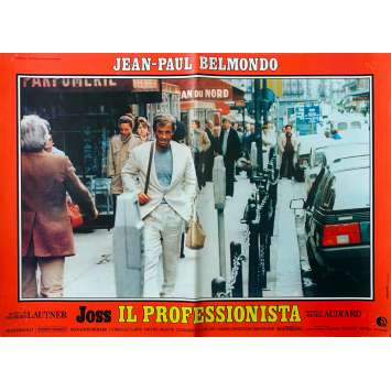 THE PROFESSIONAL Italian Photobusta Poster - 18x26 in. - 1981 - Georges Lautner, Jean-Paul Belmondo