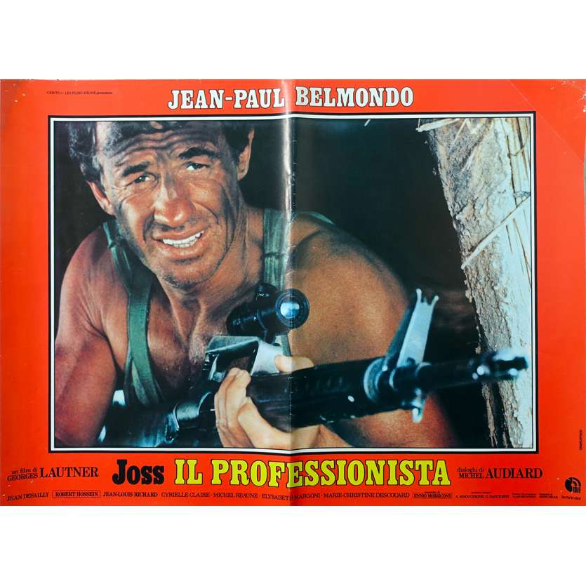 LE PROFESSIONNEL Photobusta N3 - 46x64 cm. - 1981 - Jean-Paul Belmondo, Georges Lautner
