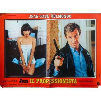 THE PROFESSIONAL Italian Photobusta Poster - 18x26 in. - 1981 - Georges Lautner, Jean-Paul Belmondo