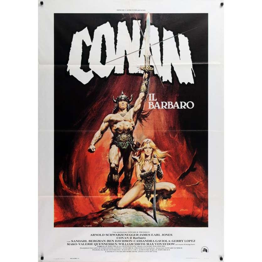 CONAN THE BARBARIAN Italian Movie Poster - 39x55 in. - 1982 - John Milius, Arnold Schwarzenegger