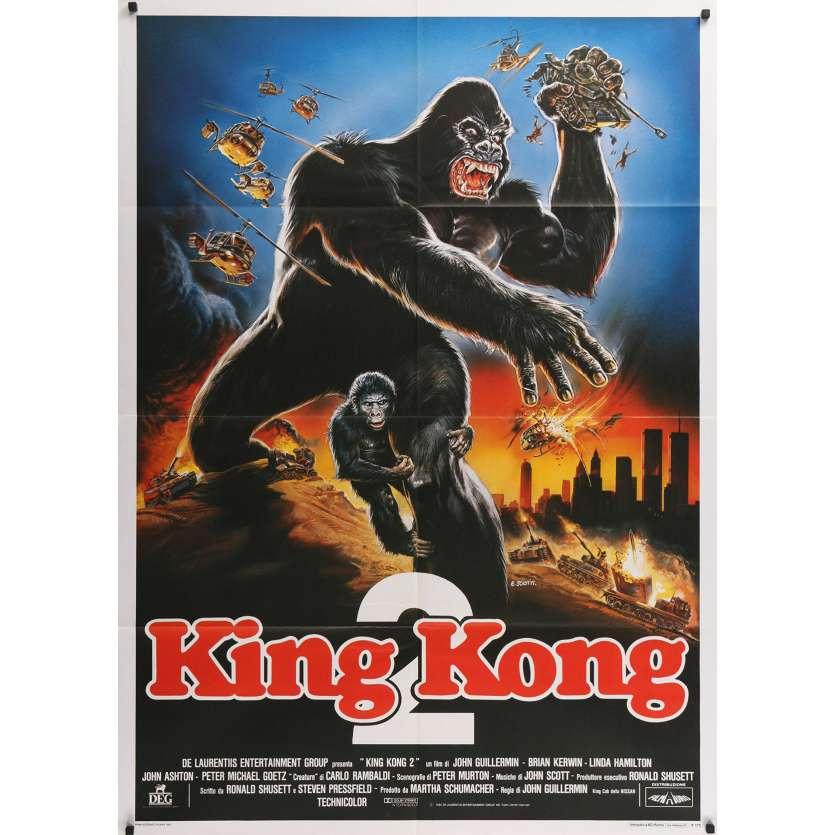 KING KONG Italian Movie Poster - 39x55 in. - 1976 - John Guillermin, Fay Wray