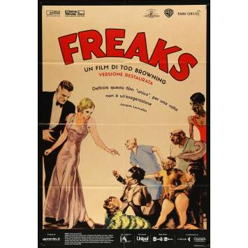 FREAKS Italian Movie Poster - 39x55 in. - R2010 - Tod Browning, Wallace Ford