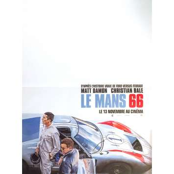 "FORD VS FERRARI Original French Movie Poster 15""x21"" - 2019 - Christian Bale, Matt Damon"