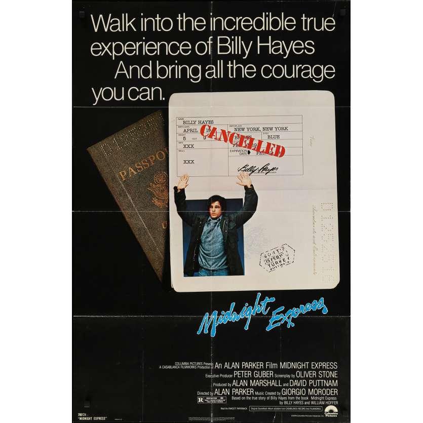 MIDNIGHT EXPRESS Affiche de film - 69x102 cm. - 1978 - Brad Davis, Alan Parker