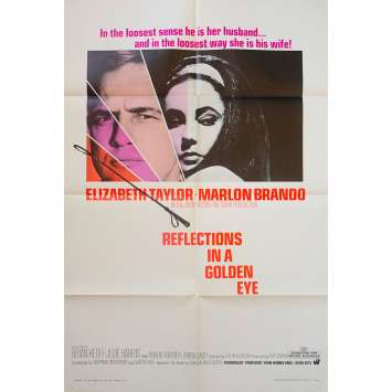 REFLECTIONS IN A GOLDEN EYE US Movie Poster - 27x40 in. - 1967 - John Huston, Liz Taylor, Marlon Brando
