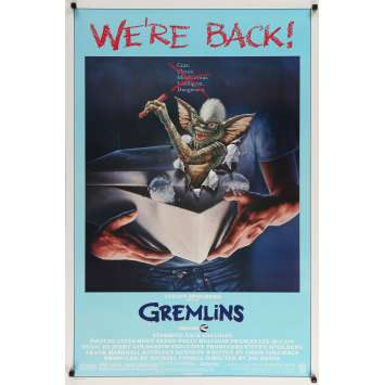GREMLINS Affiche de film - 69x102 cm. - 1984 - Zach Galligan, Joe Dante