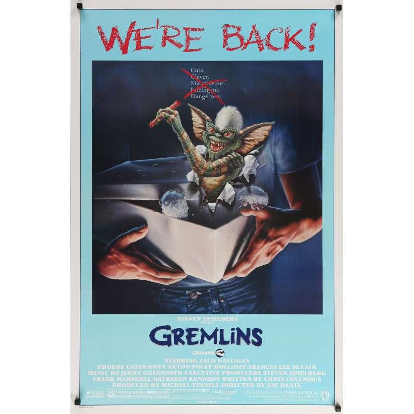 GREMLINS Affiche de film - 69x102 cm. - 1984 - Zach Galligan, Joe Dante