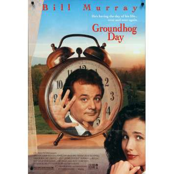 GROUNDHOG DAY US Movie Poster - 27x40 in. - 1993 - Harold Ramis, Bill Murray