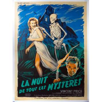HOUSE ON HAUNTED HILL Rare French Movie Poster '59 Vincent Price