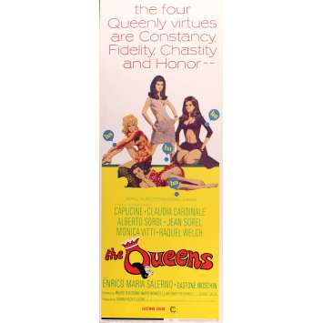 THE QUEENS US Movie Poster Très bon à Excellent état (C7) 14x36 - 1967 - Rachel Welch, Claudia Cardinale