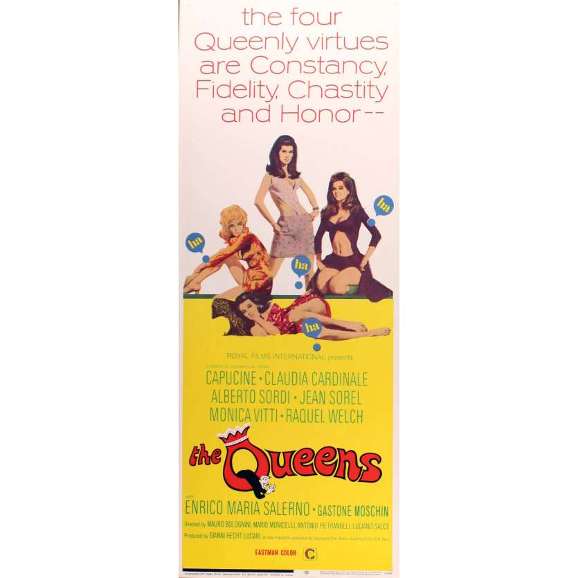 THE QUEENS Affiche de film 36x91 - 1967 - Claudia Cardinale, Rachel Welch