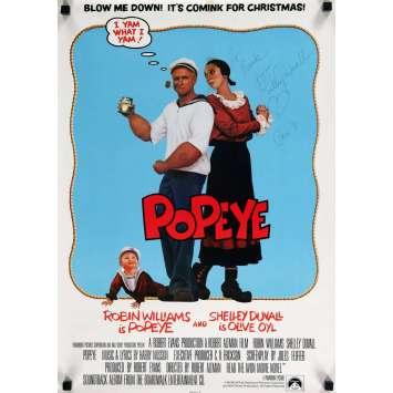POPEYE Affiche signée par Shelley Duvall 43x60 - 1980 - Robert Altman