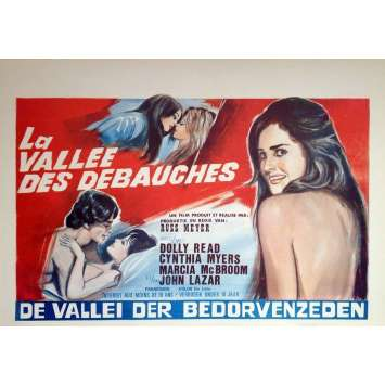 LA VALLEE DES PLAISIRS Affiche de film 35x55 - 1970 - Dolly Read, Russ Meyer