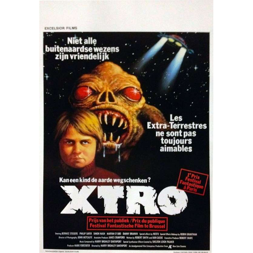XTRO Belgian Movie Poster 14x22 - 1983 - Harry Davenport, Maryam D'Abo
