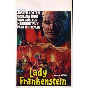 LADY FRANKENSTEIN Affiche de film 35x55 - 1971 - Joseph Cotten, Aureliano Luppi