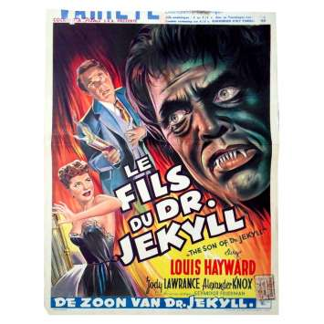SON OF DR. JEKYLL Belgian Movie Poster 14x22 - 1951 - Seymour Friedman, Louis Hayward