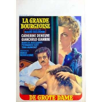 LA GRANDE BOURGEOISE Affiche de film 35x55 - 1974 - Catherine Deneuve, Mauro Bolognini