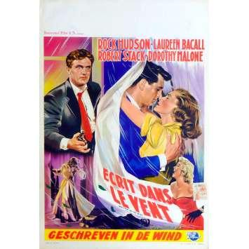 ECRIT SUR DU VENT Affiche de film 35X55 - 1956 - Rock Hudson, Douglas Sirk