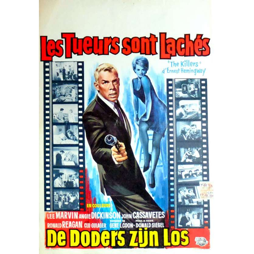 THE KILLERS Belgian Movie Poster 14x22 - 1964 - Don Siegel, Lee Marvin, Cassavetes