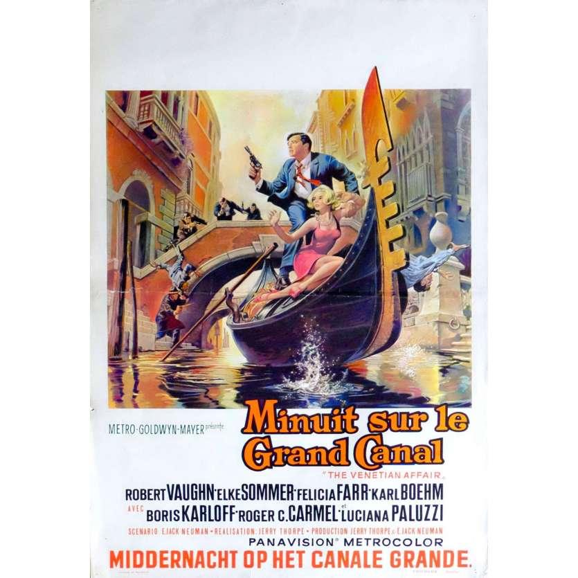 MINUIT SUR LE GRAND CANAL Affiche de film 35X55 - 1967 - Robert Vaughn, Jerry Thorpe