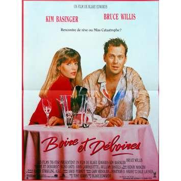BLIND DATE Original Movie Poster - 15x21 in. - 1987 - Blake Edwards, Bruce Willis