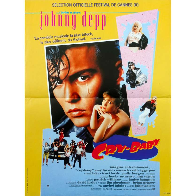 CRY BABY Original Movie Poster - 15x21 in. - 1990 - John Waters, Johnny Depp