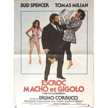 ESCROC MACHO ET RIGOLO Affiche de film - 40x60 cm. - 1983 - Bud Spencer, Bruno Corbucci