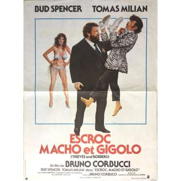 THIEVES AND ROBBERS Original Movie Poster - 15x21 in. - 1983 - Bruno Corbucci, Bud Spencer