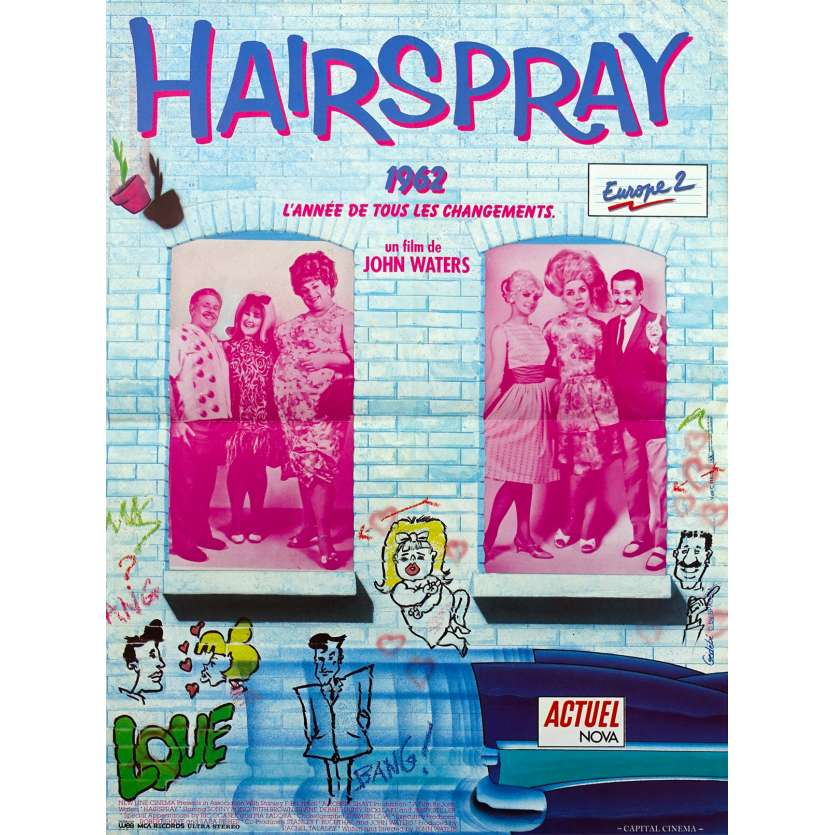 HAIRSPRAY Original Movie Poster - 15x21 in. - 1988 - John Waters, Sonny Bono