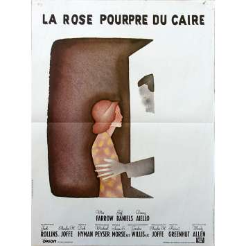 THE PURPLE ROSE OF CAIRO Original Movie Poster - 15x21 in. - 1985 - Woody Allen, Mia Farrow