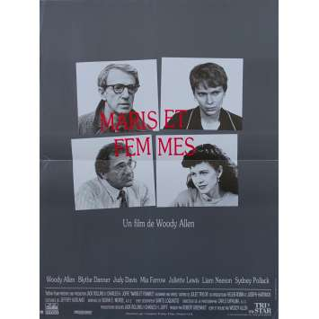 HUSBANDS AND WIVES Original Movie Poster - 15x21 in. - 1992 - Woody Allen, Mia Farrow