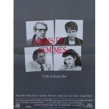 MARIS ET FEMMES Affiche de film - 40x60 cm. - 1992 - Mia Farrow, Woody Allen