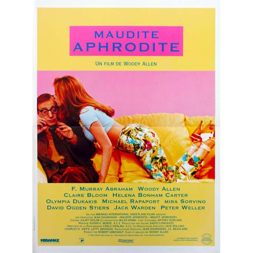 MAUDITE APHRODITE Affiche de film - 40x60 cm. - 1995 - Mira Sorvino, Woody Allen