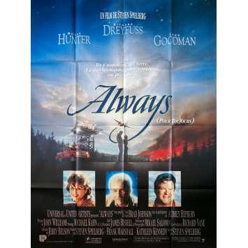 ALWAYS Original Movie Poster - 47x63 in. - 1989 - Steven Spielberg, Richard Dreyfuss