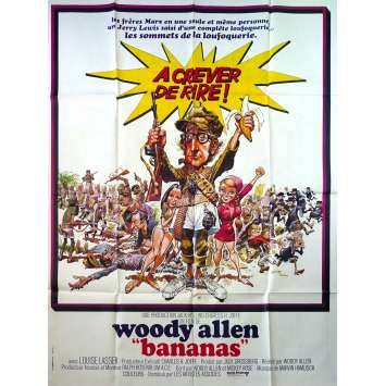 BANANAS Original Movie Poster - 47x63 in. - 1971 - Woody Allen, Louise Lasser