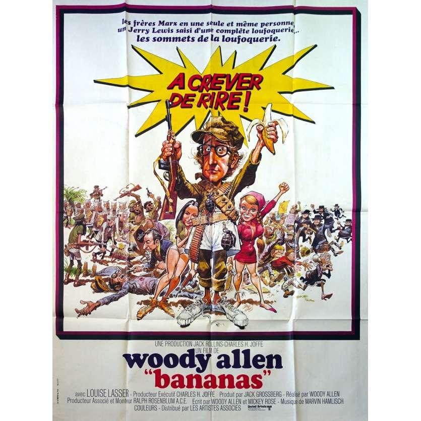 BANANAS Original Movie Poster - 47x63 in. - 1971 - Woody Allen, Louise Lasser