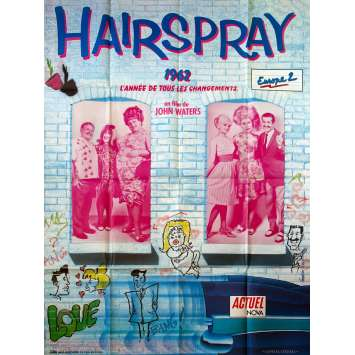 HAIRSPRAY Original Movie Poster - 47x63 in. - 1988 - John Waters, Sonny Bono