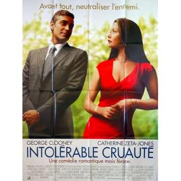 INTOLERABLE CRUAUTE Affiche de film - 120x160 cm. - 2003 - George Clooney, Joel Coen