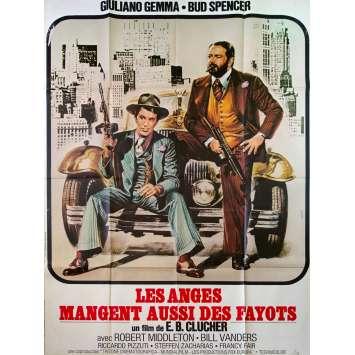 LES ANGES AUSSI MANGENT DES FAYOTS Affiche de film - 120x160 cm. - 1973 - Giuliano Gemma, Bud Spencer, Enzo Barboni