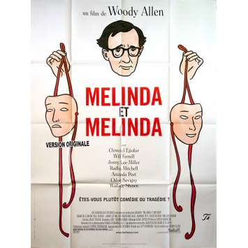 MELINDA AND MELINDA Original Movie Poster - 47x63 in. - 2004 - Woody Allen, Will Ferell