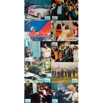 DOUBLE TROUBLE Original Lobby Cards x10 - 9x12 in. - 1984 - Enzo Barboni, Terence Hill, Bud Spencer